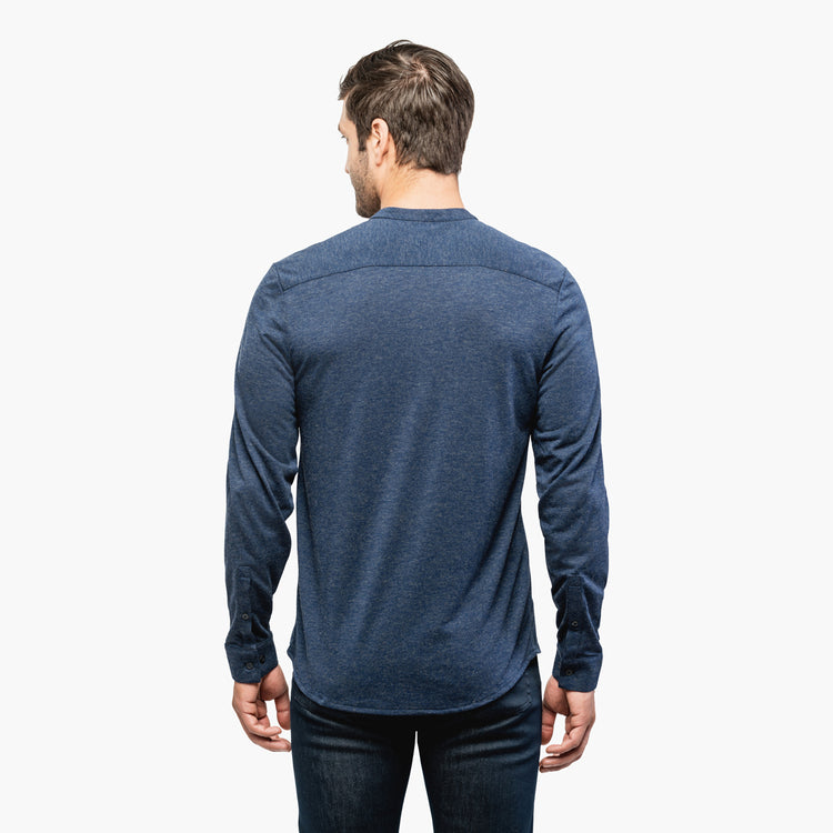 Men's Composite Merino Henley - Navy