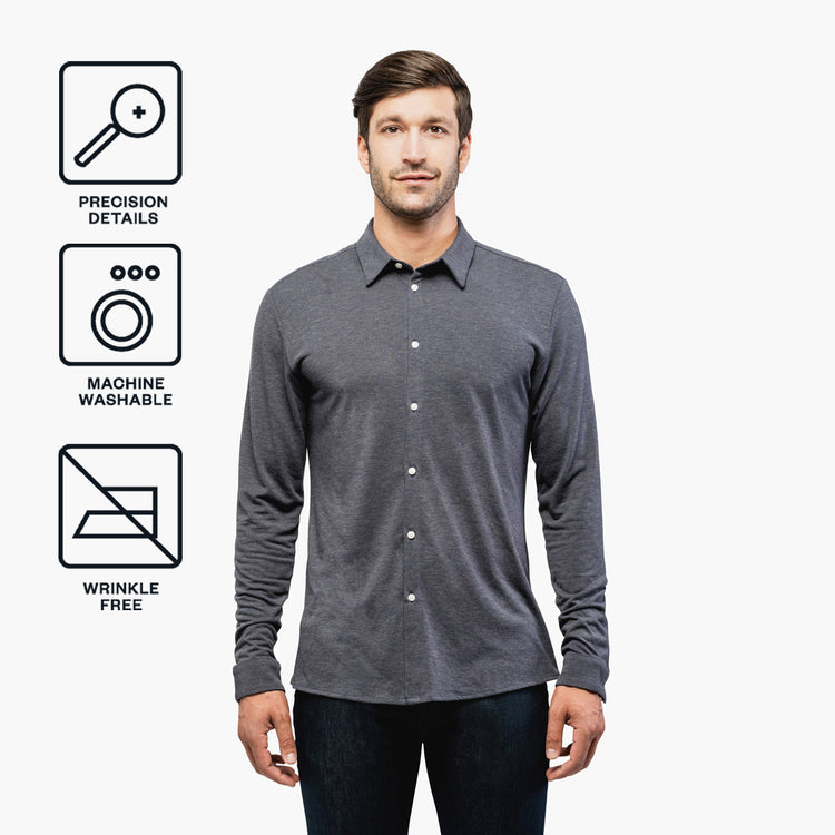 Men's Composite Merino Shirt - Dark Grey
