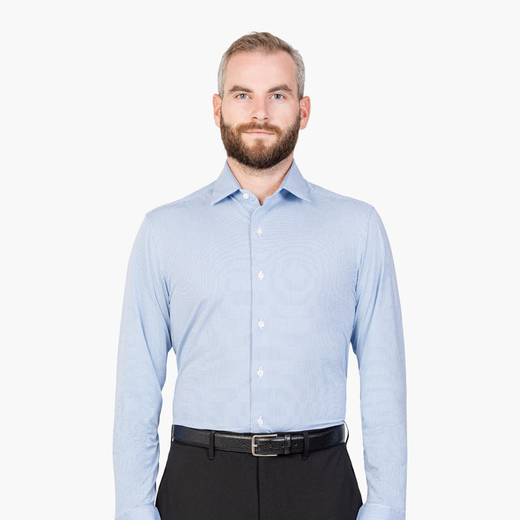 Men's Aero Luxe Dress Shirt - Blueprint Grid