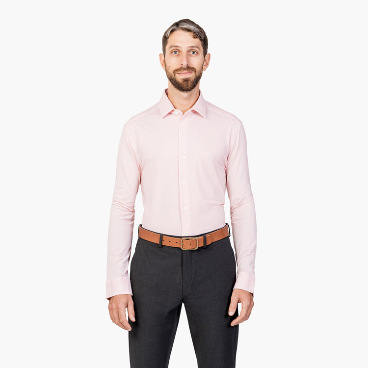 Men's Aero Luxe Dress Shirt - Red Microdot