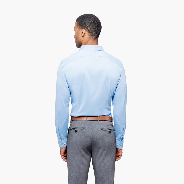 Apollo Dress Shirt - Light Blue Brushed