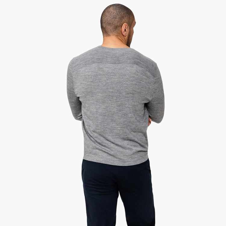 Atlas Wool Sweater - Grey Heather