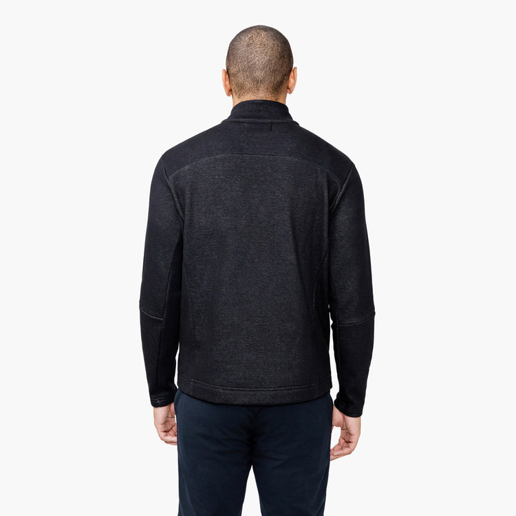 Men's Hybrid Fleece 1/4 Zip - Black