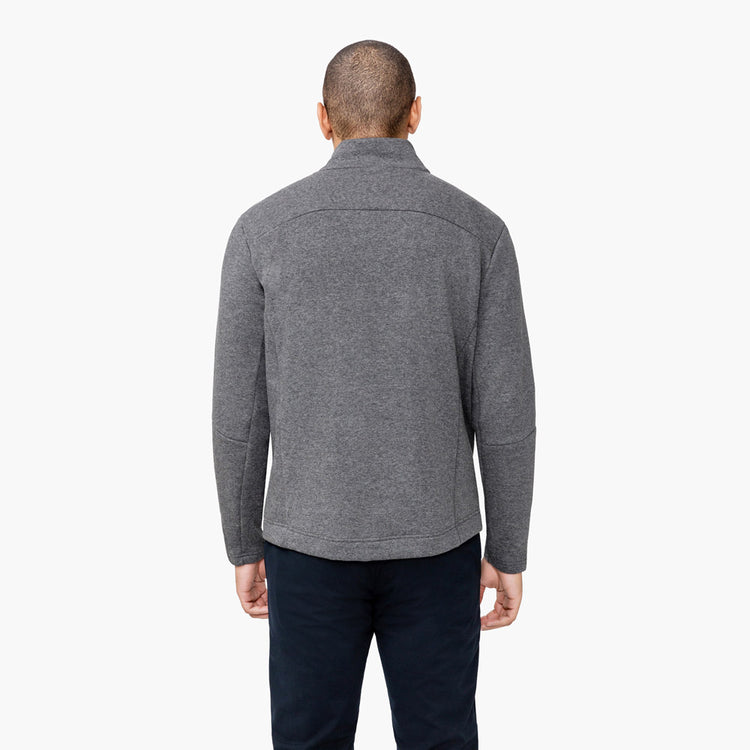 Men's Hybrid Fleece 1/4 Zip - Grey