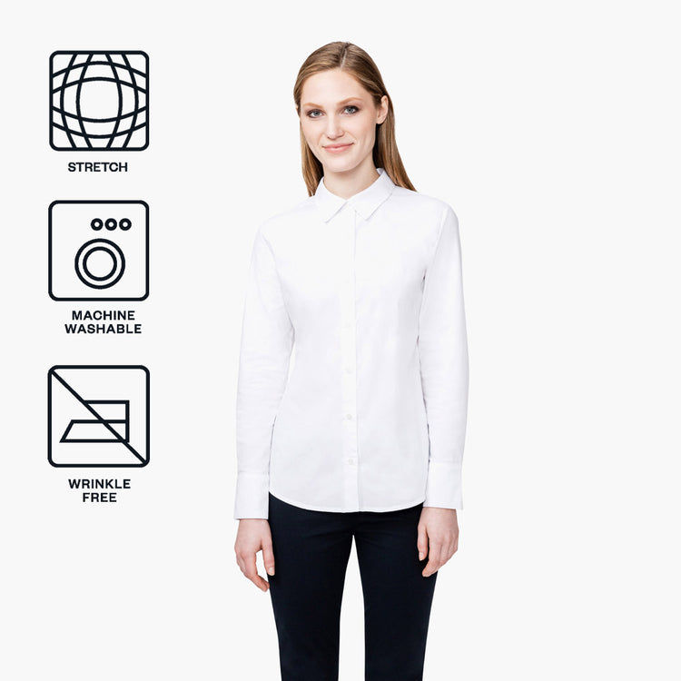 Women's Aero Dress Shirt - White