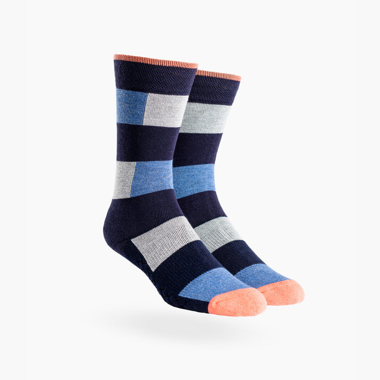 Atlas Dress Sock (AL6) - Heather Patch Stripe