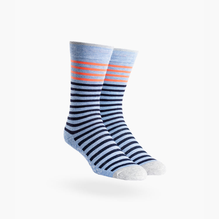 Atlas Dress Sock (AL6) - Orange and Blue Stripe