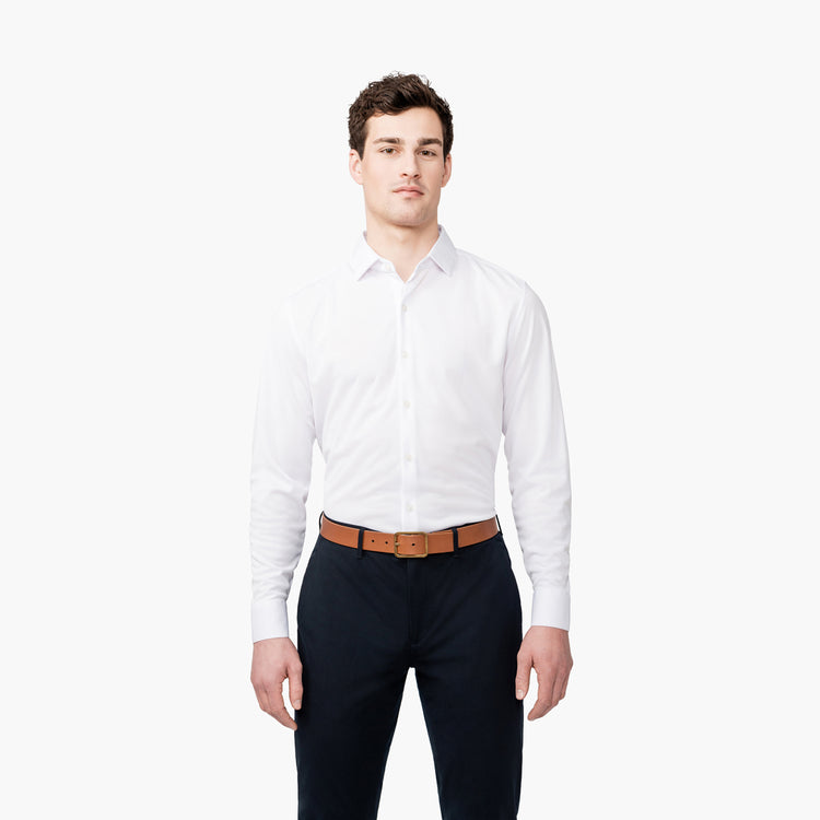 Apollo Dress Shirt - White Brushed
