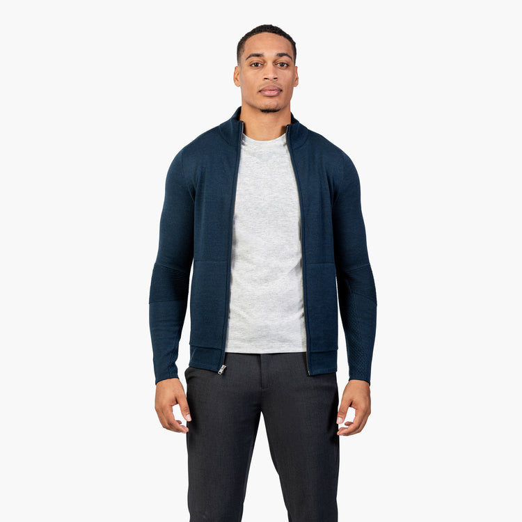 Atlas Merino Full Zip - Navy