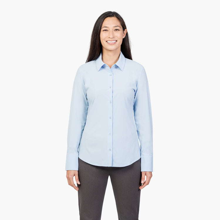 Women's Juno Recycled Tailored Shirt - Light Blue