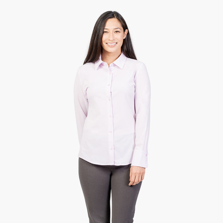 Women's Juno Recycled Tailored Shirt - Pale Pink