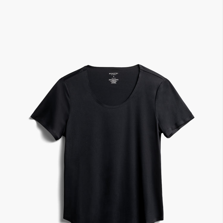 Luxe Touch Tee - Black