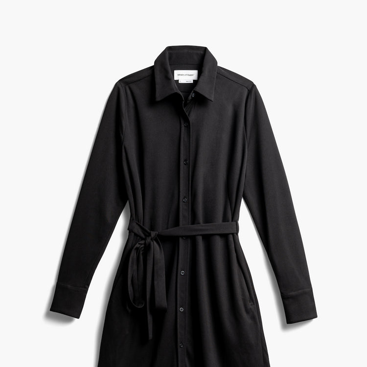 Women's Apollo Shirt Dress - Black 2.0