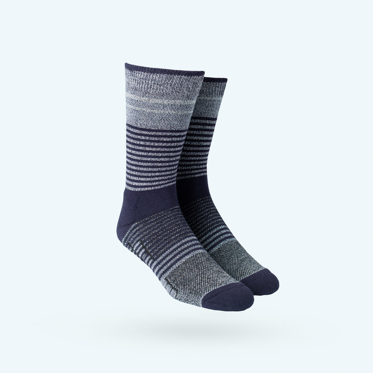 Atlas Dress Sock - Navy Fade Stripe