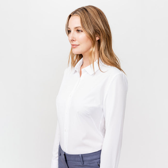 Women's Juno Tailored Dress Shirt - White