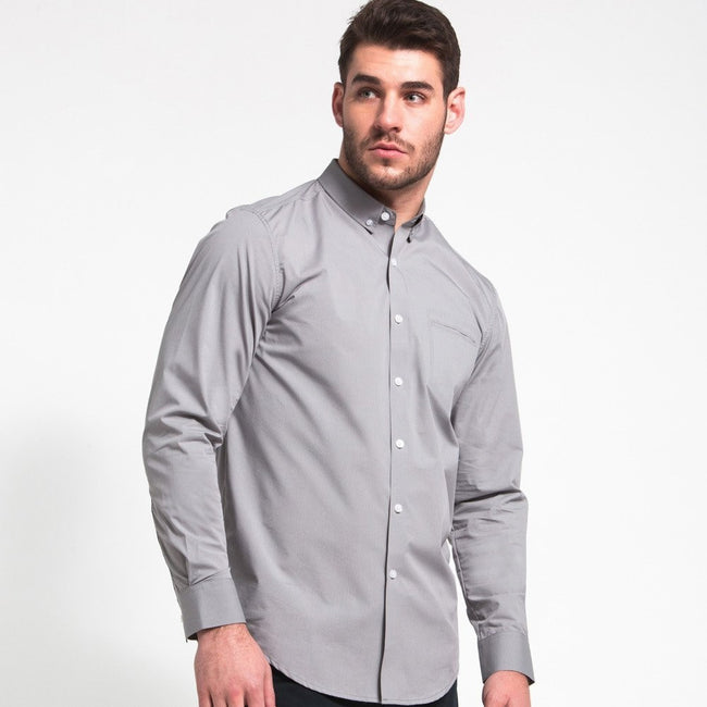0008dd4494ea Men's Button Down | Button Down Shirt | Light Grey | Ministry of Supply