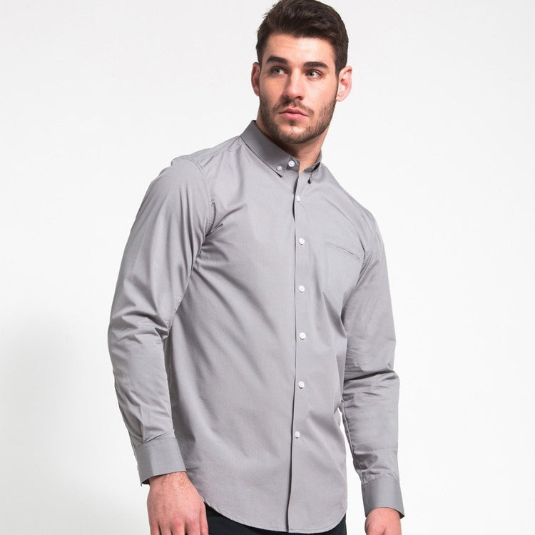 Updated Buttondown Shirt - Light Grey