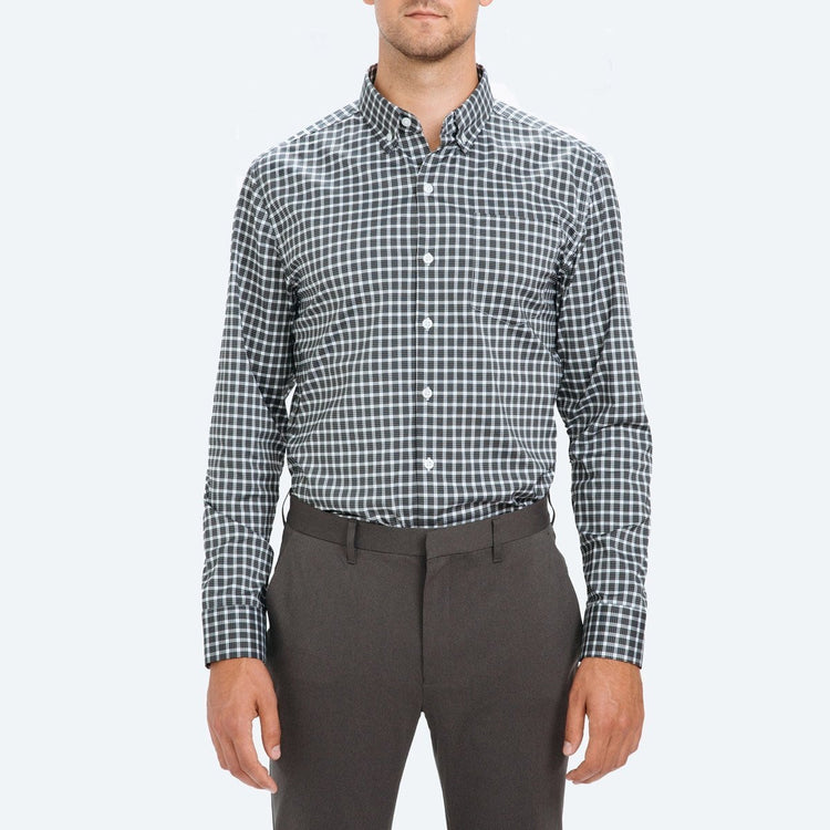 Men's Aero Button Down - Black Multi Check