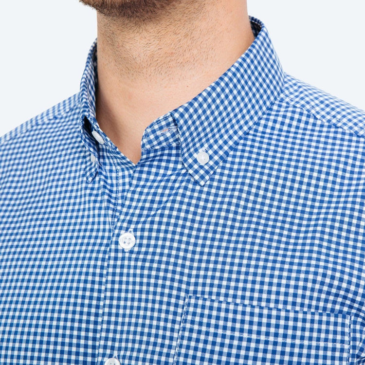 Men's Aero Button Down - Blue Gingham