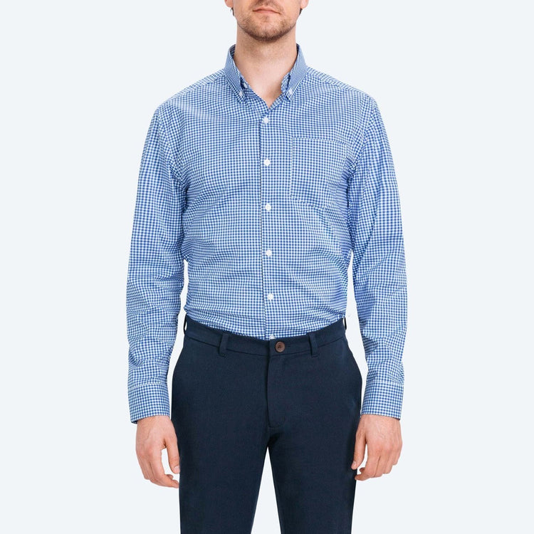 Aero Button Down - Blue Gingham