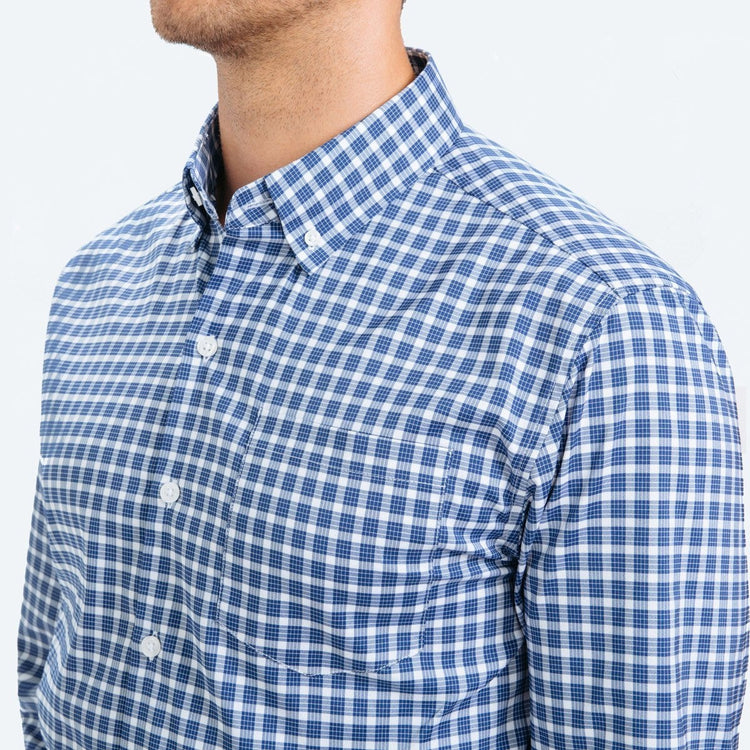 Men's Aero Button Down - Blue Multi Check