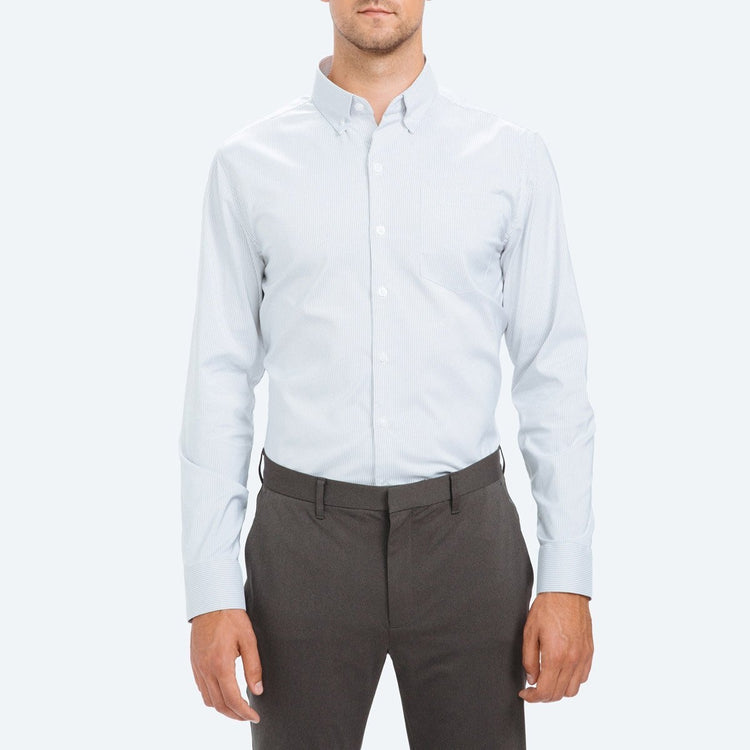 Men's Aero Button Down - Grey Stripe