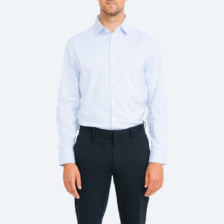 Aero Dress Shirt - Blue Classic Stripe