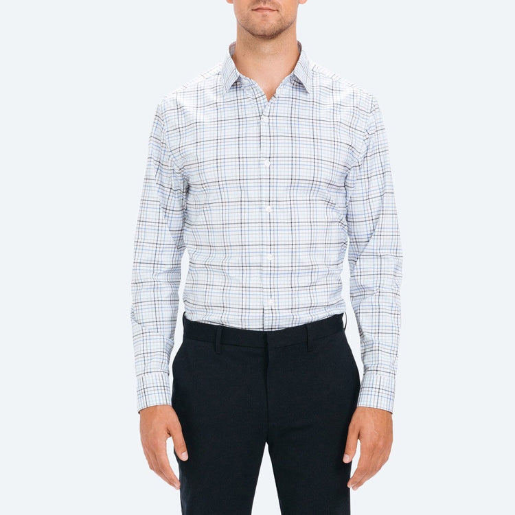 Men's Aero Dress Shirt - Blue Multiplaid