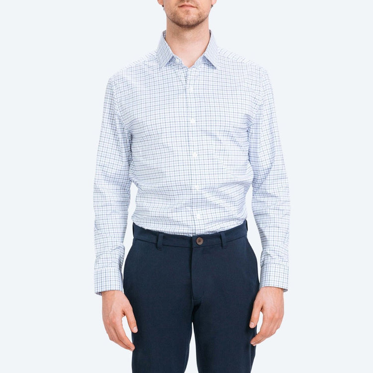 Aero Dress Shirt - Blue Tattersall