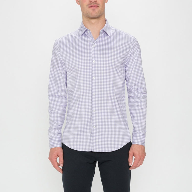 Men's Aero Dress Shirt - Lavender Gingham