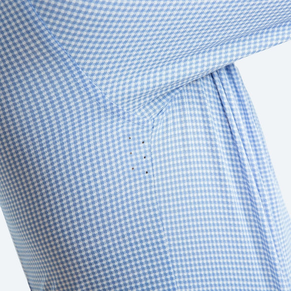 Hybrid Button Down - Light Blue Gingham