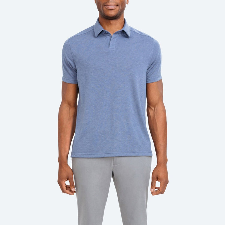 Composite Slim Fit Polo - Blue