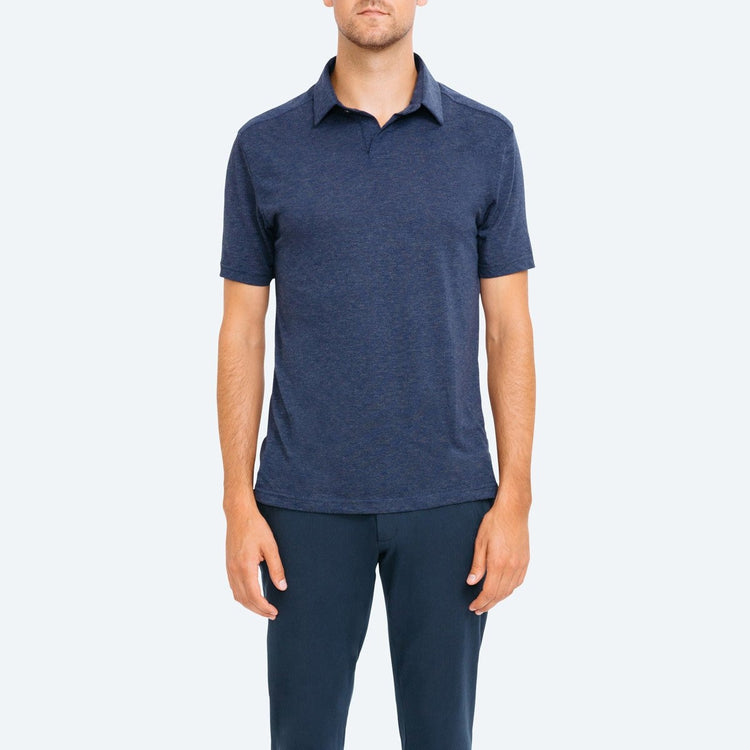 Composite Slim Fit Polo - Navy