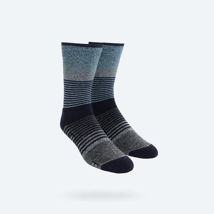 Atlas Dress Sock - Blue Heather Fade Stripe