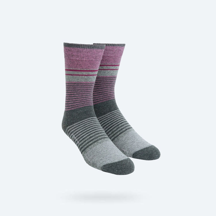 Atlas Dress Sock - Purple Heather Fade Stripe