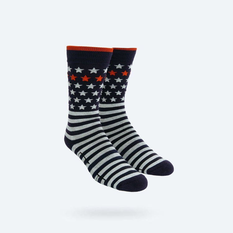 Atlas Dress Sock - Stars and Stripes