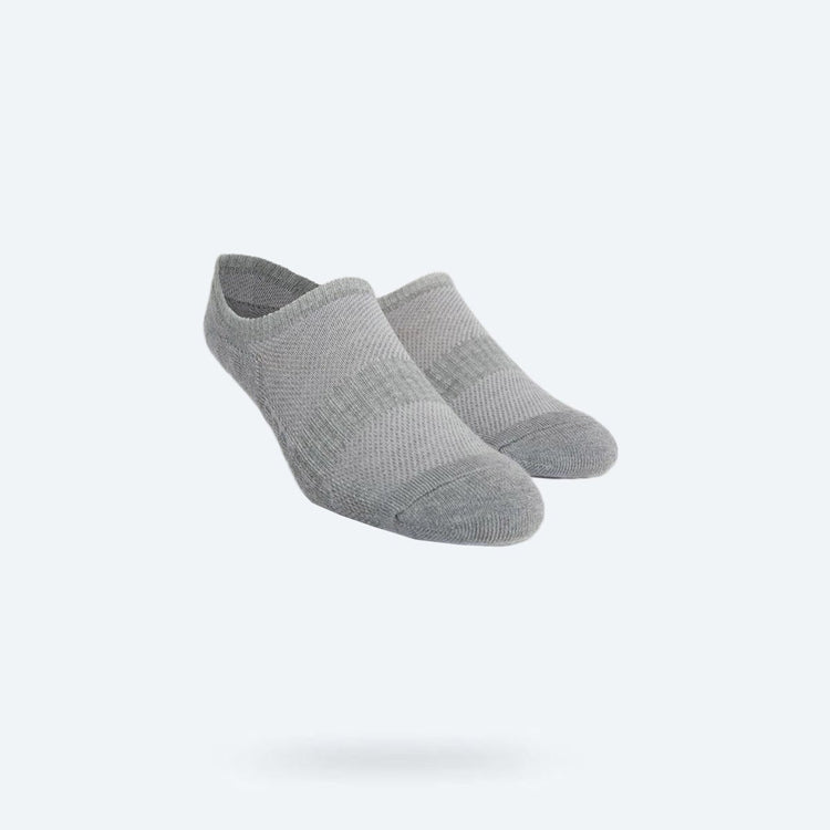 Atlas No Show Sock - Grey