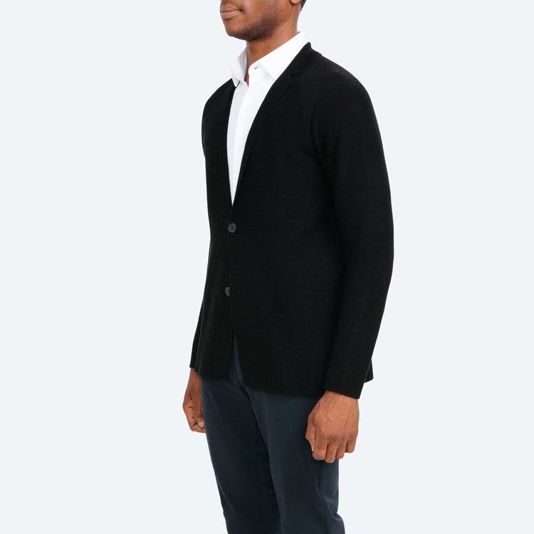 Men's 3D Print–Knit Blazer - Black