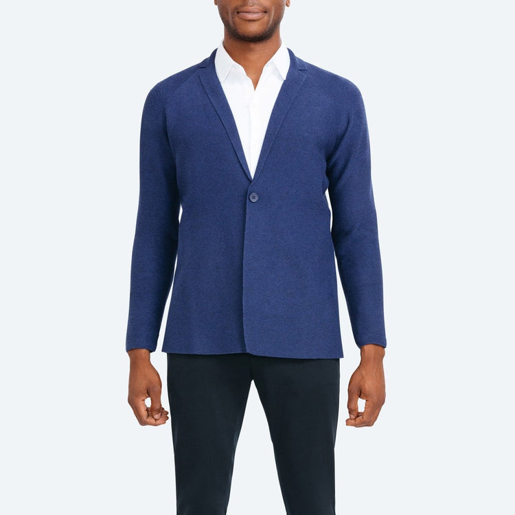 Men's 3D Print–Knit Blazer - Navy