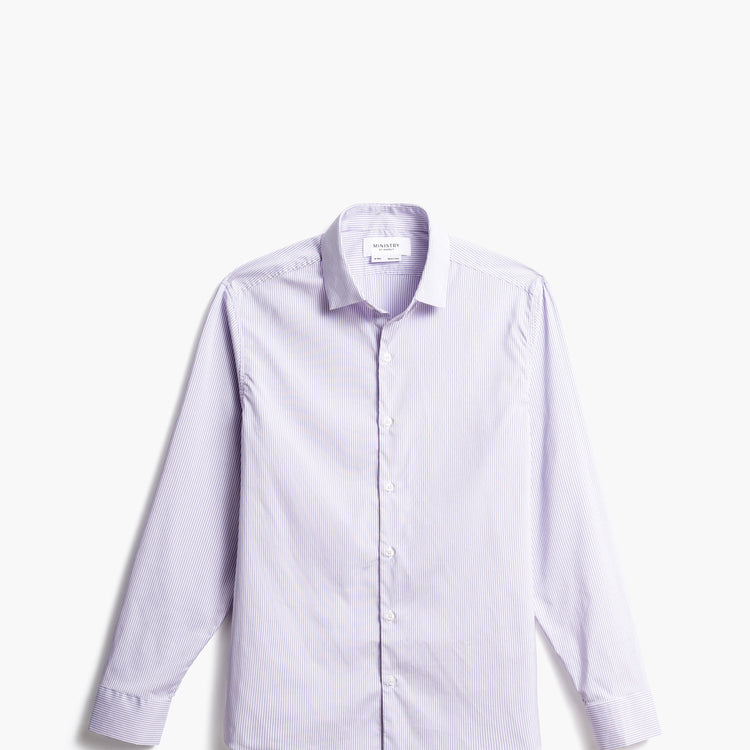 Men's Aero Dress Shirt - Lavender Shadow Stripe