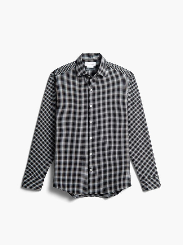 Men's Aero Zero Dress Shirt - Black Grid
