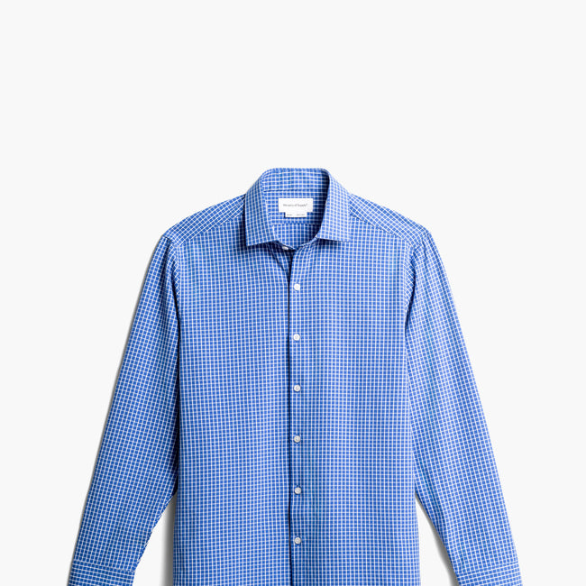 Men's Aero Zero Dress Shirt - Blue Grid