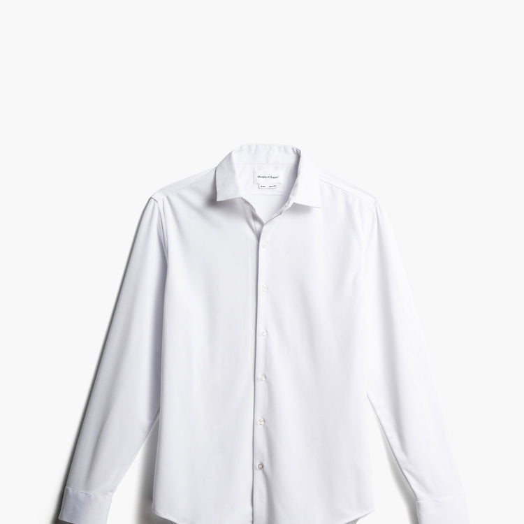 Apollo Dress Shirt - White Non-Brushed 2.0