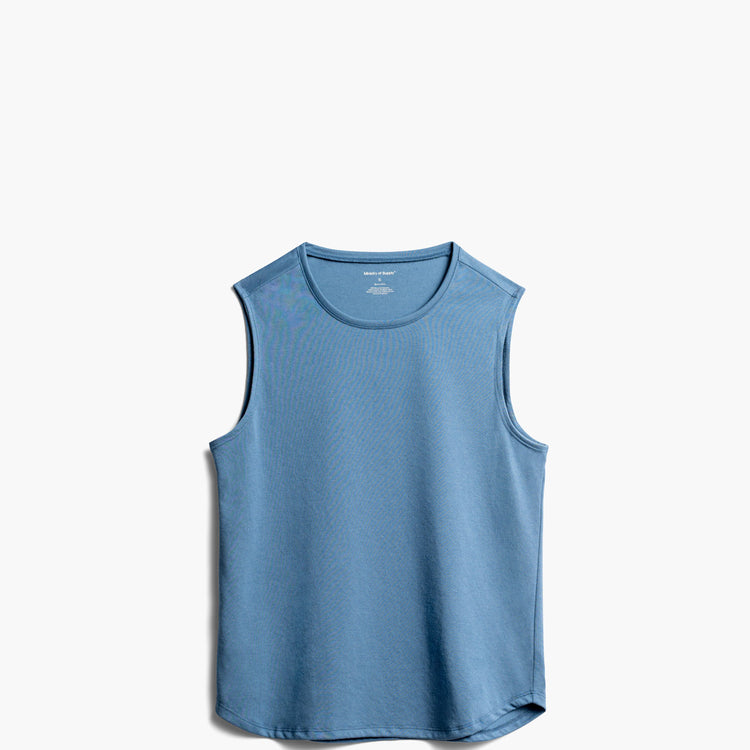 Women's Recycled Composite Merino Tank - Storm Blue
