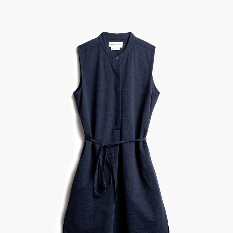 Women's Hybrid Seersucker Dress - Navy