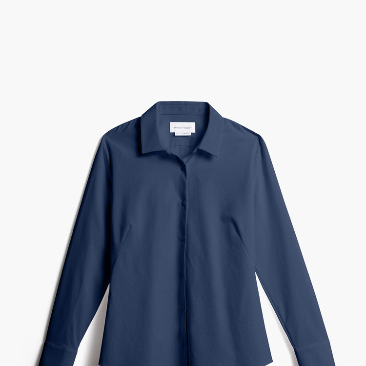 Women's Juno Recycled Tailored Shirt - Navy