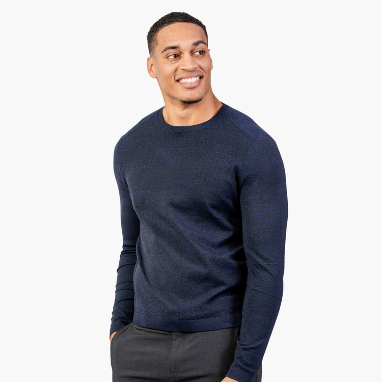 Atlas Crew Neck Sweater - Navy Static