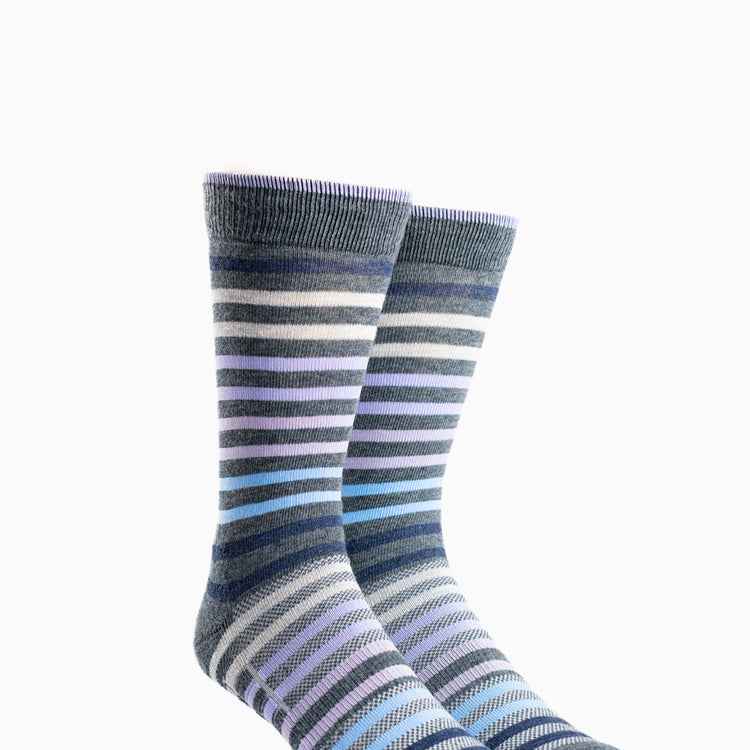 Atlas Dress Sock - Blue Lavender Stripe