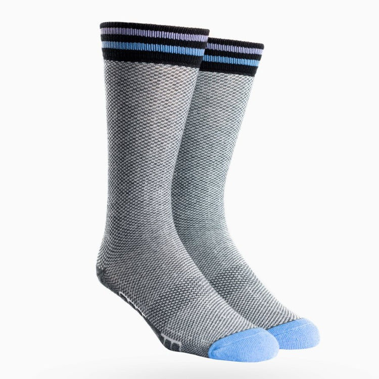 Atlas Dress Sock - Blue Tip Houndstooth