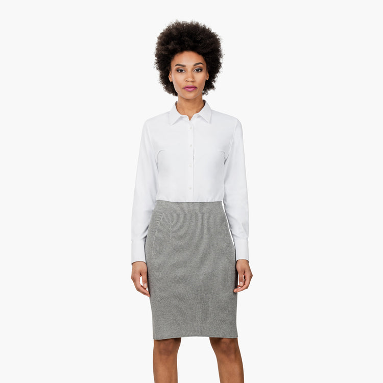 3D Print–Knit Skirt - Light Grey